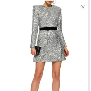 Perseverance Sequin Embroidered Mini Dress